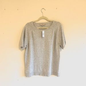 LOFT | Size XXL | NWT | Grey Short Sleeve Sweater